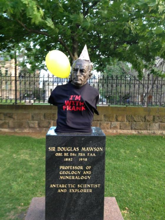 Some key figures in the city are really getting in to the spirit for Frank's birthday